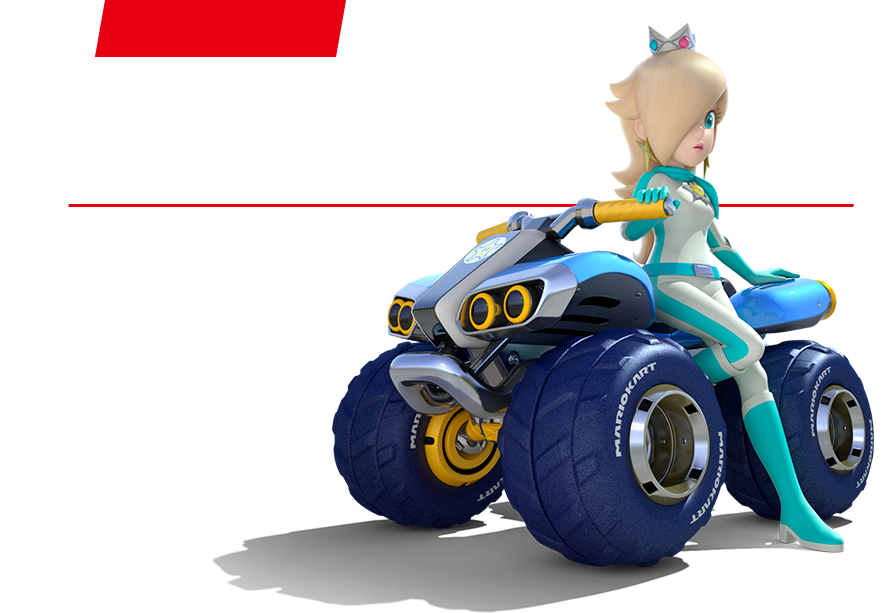 Or an ATV driven by Rosalina.