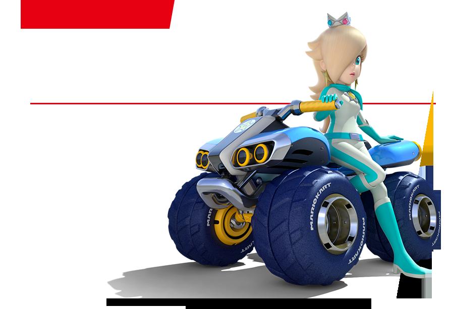 Or an ATV driven by Rosalina.