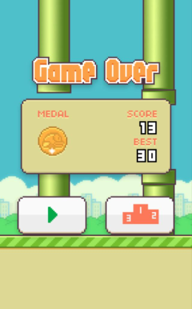 I am not very good at Flappy Bird.