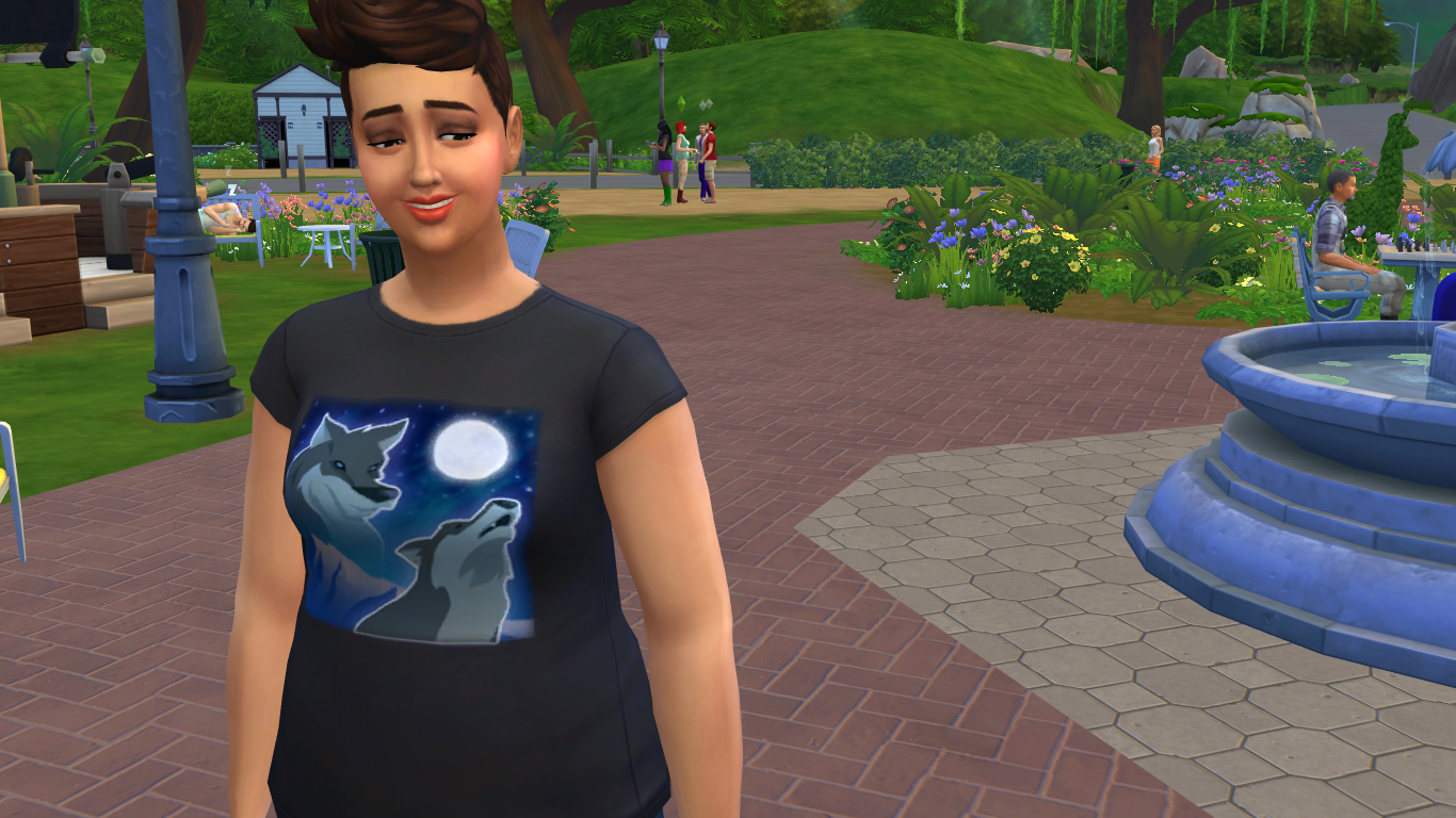 Please interpret my Simself's face as one of confusion and uncomfortable delight.