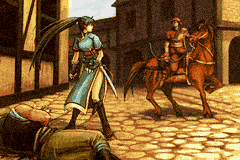 Here we see Lyn and Rath in glorious low-res GBA glory.
